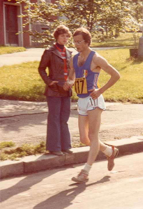 Dominique Guebey, the race walker